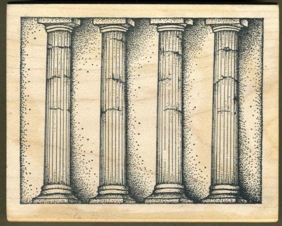 greek architectural columns rubber stamp pillars by ceilmary