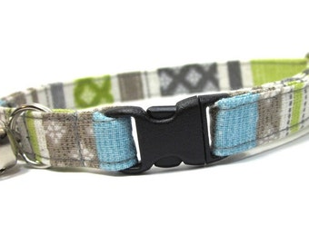 Lime Green Stripes Cat Collar