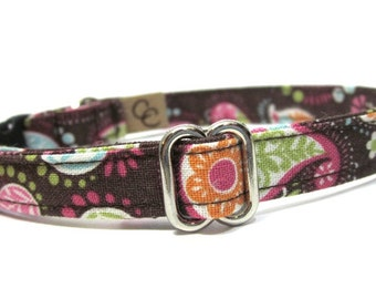 Paisley Cat Collar- Pretty in Paisley