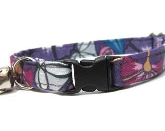Purple Passion Floral Cat Collar