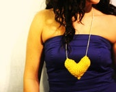 Ready to Ship -- Sweetheart Necklace in Yellow
