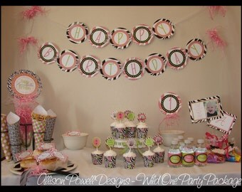 Custom Girls Birthday Party Package - Wild One - DIY Printable