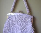 Vintage Beaded Purse/Handbag Mother Of Pearl