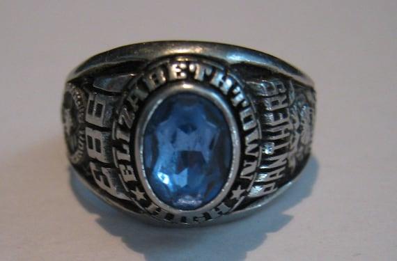 Vintage Siladium Elizabethtown High 1983 Class Ring Artcarved
