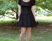 Vintage Black Lace Cocktail Dress