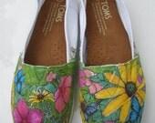 Flowers & Butterflies Toms Shoe