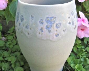 Wheel Thrown Porcelain Robins Egg Vase
