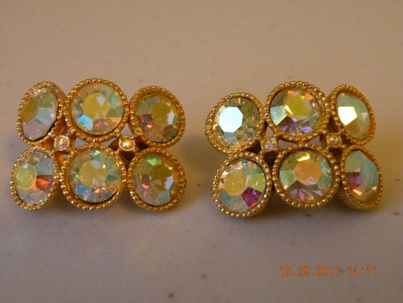 20% off STANLEY aurora borealis clip on earrings.