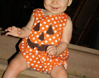 Polka Dot Pumpkin Face Bubble