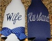 Husband and Wife Longneck Bottle Coozies