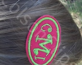 Felt Hair Clip with Custom Name or Initial Monogram Personalization