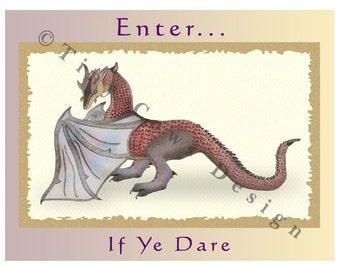 Dragon Party invitation