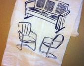 Retro Chairs Flour Sack Dish Towel