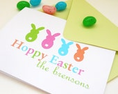 Easter Cards / Happy Easter Greeting Card / Family of Bunnies