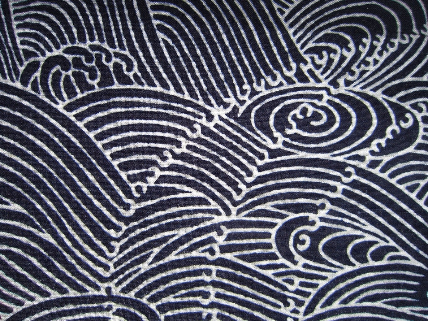 Indigo blue ocean vintage Japanese cotton yukata fabric