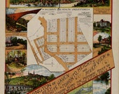 Washington D.C. 1890 Antique Map: Palisades of the Potomac