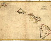 Hawaii Map 1837 Hawaiian Islands