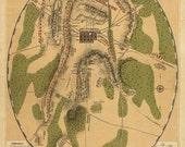 Antique Map Battle of Gettysburg 1863 Civil War