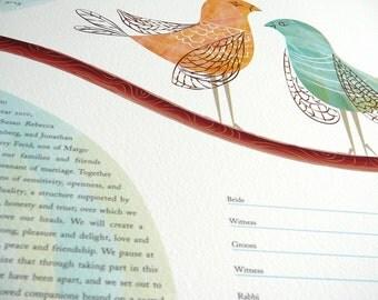 Ketubah- Love Birds