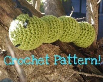 "Amigurumi Toy Caterpillar PDF Crochet Pattern INSTANT DOWNLOAD ""The Carefree Caterpillar"""