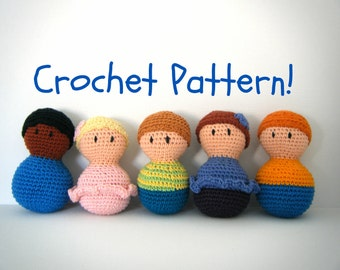 "Amigurumi Baby Doll PDF Crochet Pattern INSTANT DOWNLOAD ""Bobble Babies"""