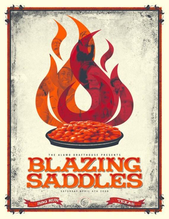 Blazing Saddles poster Alamo Drafthouse