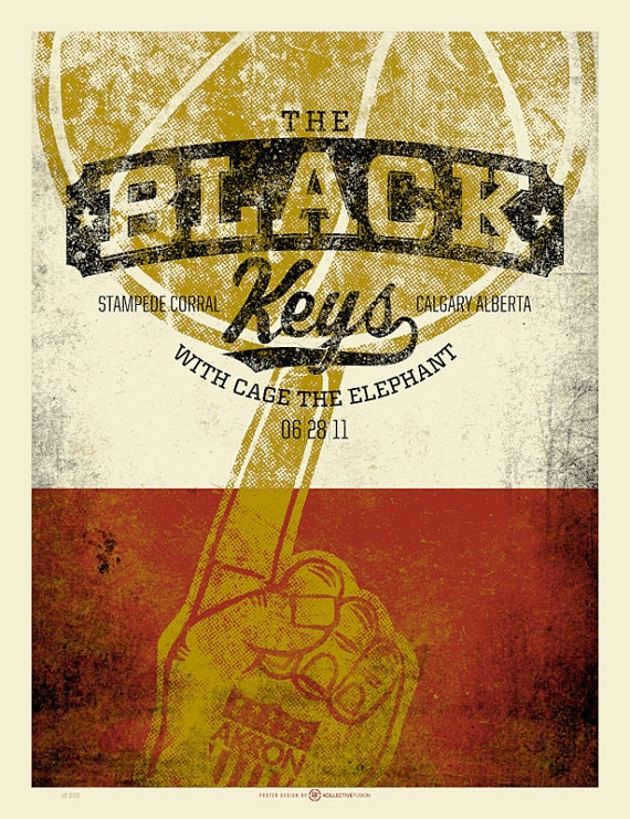 Black Keys Calgary screen printed poster