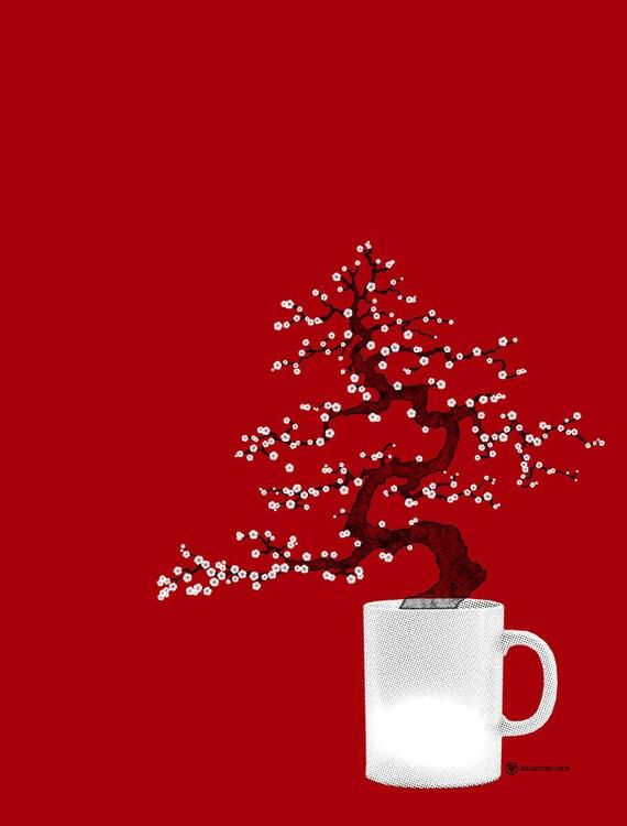 Bonsai Coffee art print