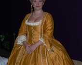 18th century, robe a la francaise, gown, Marie Antoinette inspired, gregorian, colonial, baroque, rococo