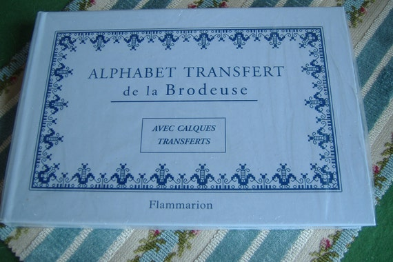 DMC Book Monogram alphabet 18 sets iron on transfers..unused