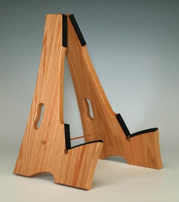 Red oak wood slay frame guitar stand
