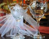 Bride Martini Glass Bride Wine Glass Wedding Bachelorette Set