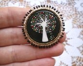 Handpainted 'Enchanted Forest at Winter' Brooch (Small) (made to order)