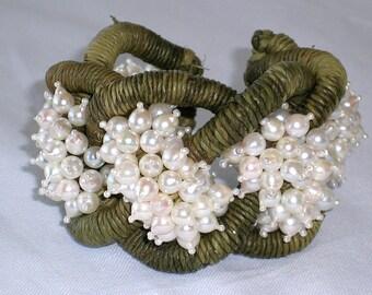 Pearl Raffia Bracelet