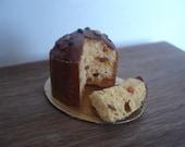 Miniature Italian panettone with slice