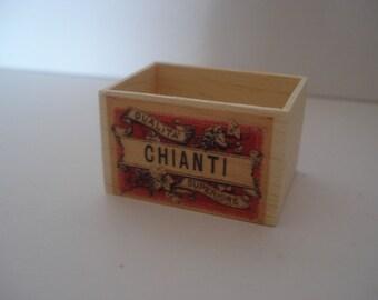 Miniature Chianti wooden crate