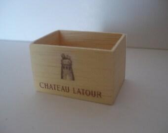 Miniature wine wooden crate