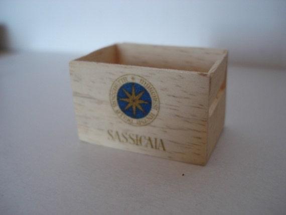 Miniature Sassicaia wooden crate