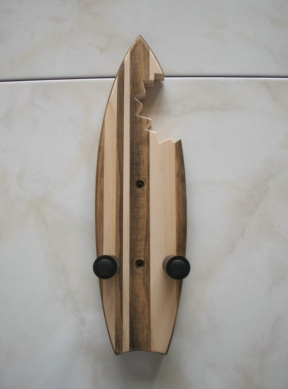 ukulele wall mount hanger mini shark bite surfboard by toucanmango. Black Bedroom Furniture Sets. Home Design Ideas