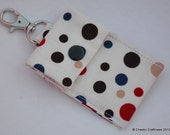 Clip On Swiveling Multi Pouch in Earth Tone Dots