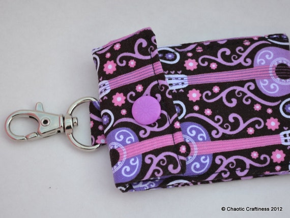 Clip On Swiveling Multi Pouch in Pink and Purple Guitars