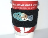 Coffee Cozy Sleeve Crochet with a Fish