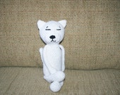 Sold - Crochet Amigurumi Cat White Tabby