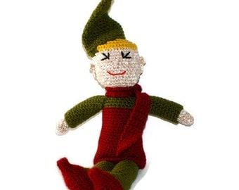 Elf Boy Christmas Doll Amigurumi Crochet Doll