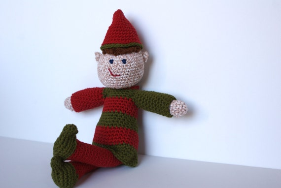 Elf on the Shelf Doll Amigurumi  Crochet Doll
