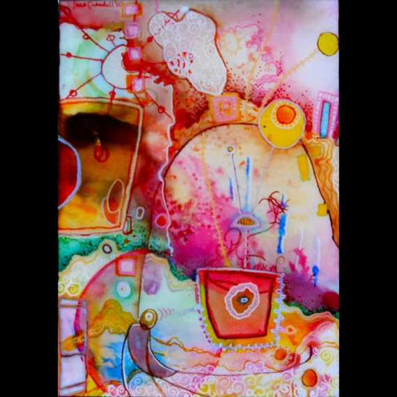 Epoxy Painting Canvas : Surreal abstract ink painting with epoxy resin by