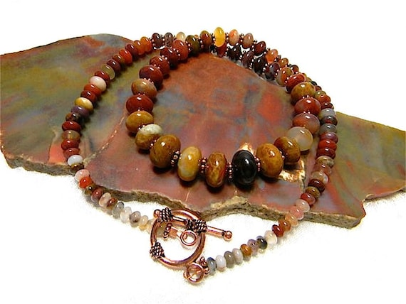 Petrified Wood Necklace Copper