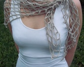 Naturaly grey linen scarf/ kerchief