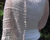 Gray linen shawl