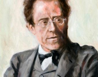 Gustav Mahler portrait, 8x10 giclee print